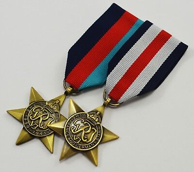 Pair of WW2 Campaign Star Medals with Ribbons. 1939-1945, France and Germany Star