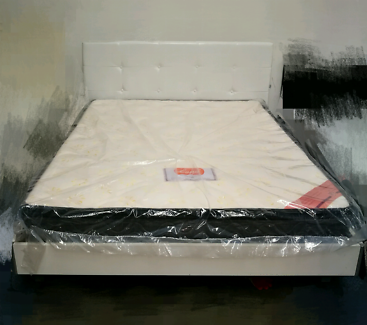 Clearance display piece queen size leather bed