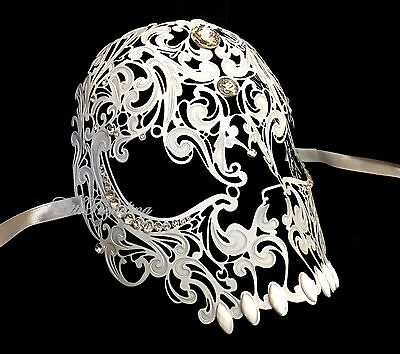 High Fashion Prom Carnival Costume Masquerade Ball Halloween metal Skull Mask