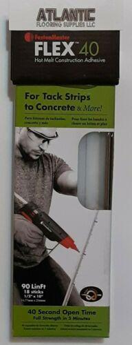 FastenMaster FMFLEX 40 Hot Melt Glue HB220 Glue Gun 18 Sticks NEW FREE SHIPPING