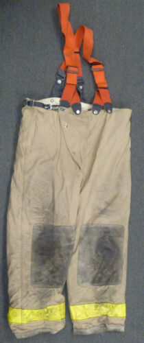 44x30 Globe Firefighter Pants With Suspenders Turnout Bunker Fire Gear P950