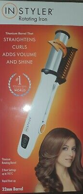 InStyler 32mm Silver Titanium Rotating Iron, Curling Tong 1611270