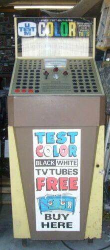 Vintage U-TEST-M Vacuum Tube Tester Store model Radio TV  Pittsburgh Pa. 6V6 5U4