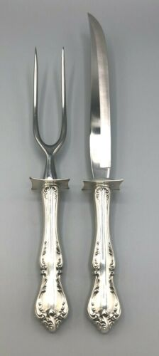 """Debussy by Towle Sterling Silver Large Carving Knife & Fork Set 13.75"""""""