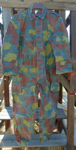 Vintage Italian M29 Camouflage Coveralls Size L & XL, good used cd. w/free ship
