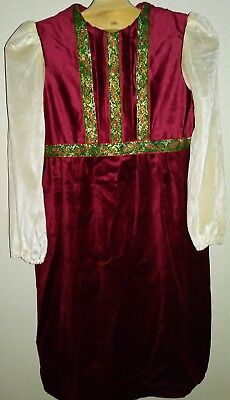 Pioneer Colonial Hand Maid Early American Christmas Holida Dress Costume Theater (Maid Dress)