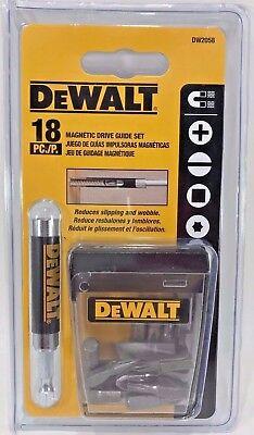 Dewalt DW2058 18 Piece Magnetic Screw Bit Drive Guide Set Dewalt Magnetic Drive Guide