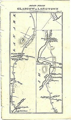 Antique map, Glasgow to Longtown (2)