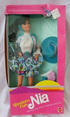 Western Fun Nia Barbie Doll 1989 - No. 9933 Mattel - NRFB