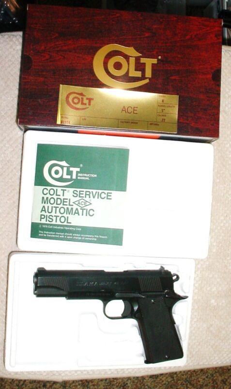 Colt Service Model ACE .22 Box & Paperwork