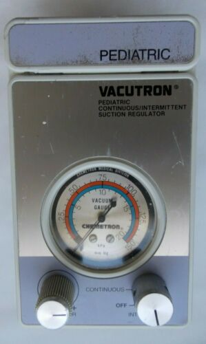 VACUTRON PEDIATRIC CONTINUOUS INTERMITTENT SUCTION REGULATOR 22070536/00695