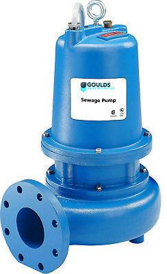 Goulds Ws5034d4 5hp 4 Manual Submersible Sewage Pump 5hp 360-460v New 3888 D4