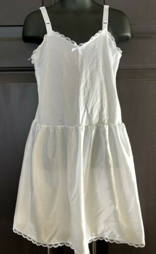 I.C. Collections Girls White Nylon Slip SZ 6X