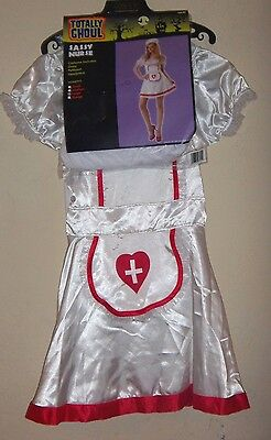 womens NEW NWT size small SASSY NURSE HALLOWEEN COSTUME complete DRESS HEAD PC