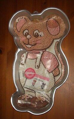 Vintage 1987 Large Wilton Little Mouse Cake Pan