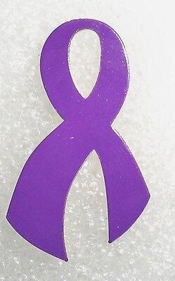 Pancreatic Cancer Awareness purple ribbon pin, made in USA