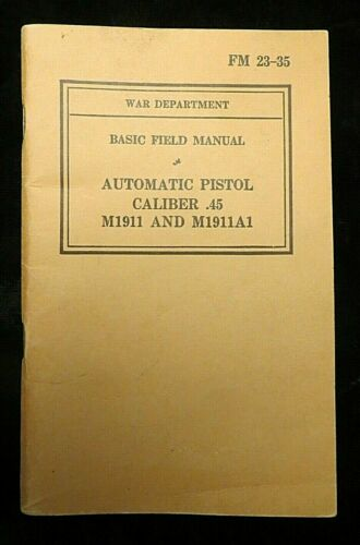 WWII US Army - Training Guide FM 23-35, Pre-War dated 1940,  (3842)