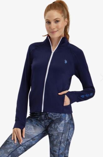 Women's U.S. Polo Assn. Zip Up Jacket— Evening Blue XS, S, M, L or XL