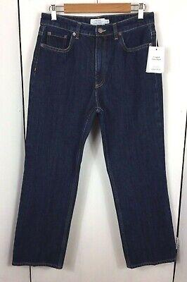 """& OTHER STORIES Paris Atelier Indigo Cropped Jeans Sz 31 Inseam 27"""" High Waist"""