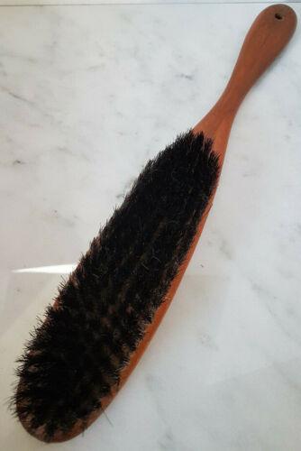 Vintage Wood Clothes Brush Long Wood Handled Nylon Bristle Suit / Clothes Brush