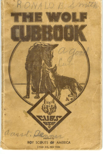 """1943 Cub Scouts """"The Wolf Cubbook"""""""