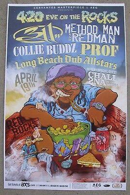 4:20 Eve On The Rocks w/ 311, Method Man & Redman Red Rocks 11x17 Concert Poster