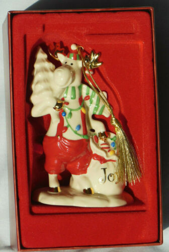 Lenox MOOSEAGES JOY Ornament. Marcel The Moose. Excellent/Gently Used. In Box.