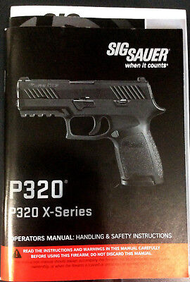 sig p320 320 x-series factory owner's manual & parts list