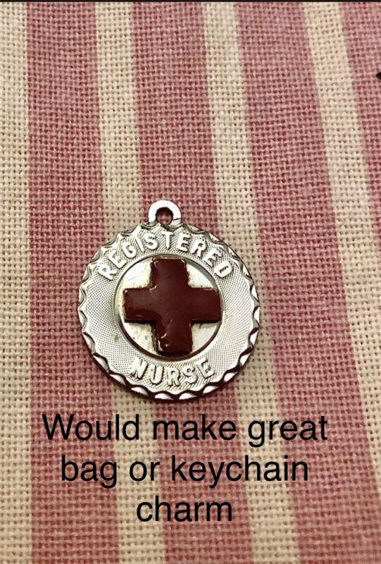 NURSE NURSING PENDANT 🏥Or Key Chain Charm Or Bag Charm Vintage Silver