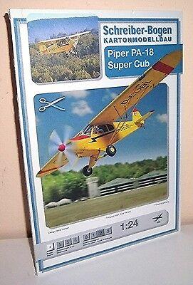 + KARTONMODELLBAU  Piper PA-18 Super Cub SCHREIBER-BOGEN 698   Bastelbogen