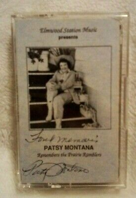Patsy Montana Remembers the Prairie Ramblers Vtg cassette Country HOF Signed