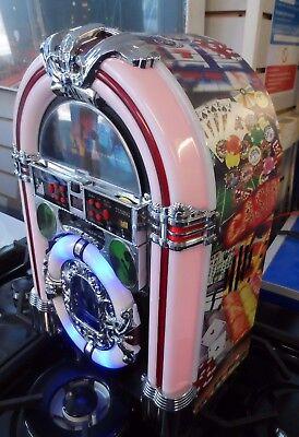 Jukebox Sterero CD Player FM Radio BLUETOOTH MP3 Lights limited edition Casino