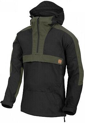 Helikon-Tex Woodsman Anorak Jacket Soft Shell Black / Taiga Green Outdoor Jacke