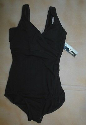 NEW wrapfront tank cotton spandex leotard black ladies sizes Body Wrappers #P103 - Black Cotton Unitard