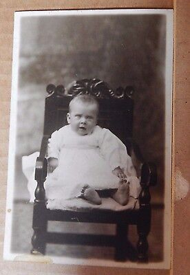 """Postcard Baby In Gown studio Shot """" Our Hilda"""" unposted"""