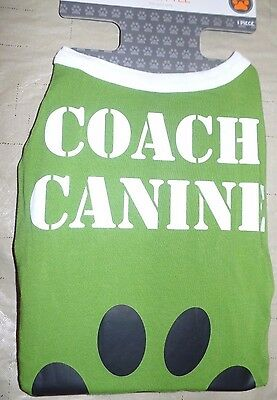 NEW NWT COACH CANINE DOG SHIRT HALLOWEEN COSTUME size XL 100 LB PLUS PET CUTE @@ - Cute Plus Size Halloween Costumes