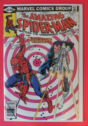 Amazing Spider-Man #201 - KEY ISSUE - Punisher app. - Classic bullseye cover