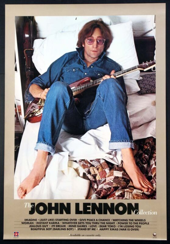 THE JOHN LENNON COLLECTION ANNIE LIEBOVITZ PHOTO DAKOTA 1982 PROMO POSTER