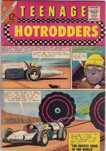 TEENAGE HOTRODDERS # 10 CHARLTON - JACK KELLER - RACING CARS