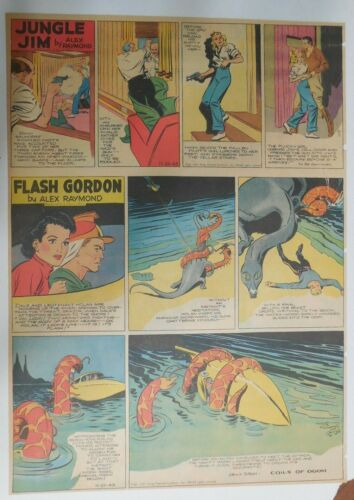 Flash Gordon Sunday by Alex Raymond from 11/21/1943 Large Full Page Size !