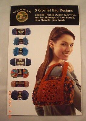 - 5 Crochet Bag Designs - Lion Brand Yarn - 5 Crochet Patterns