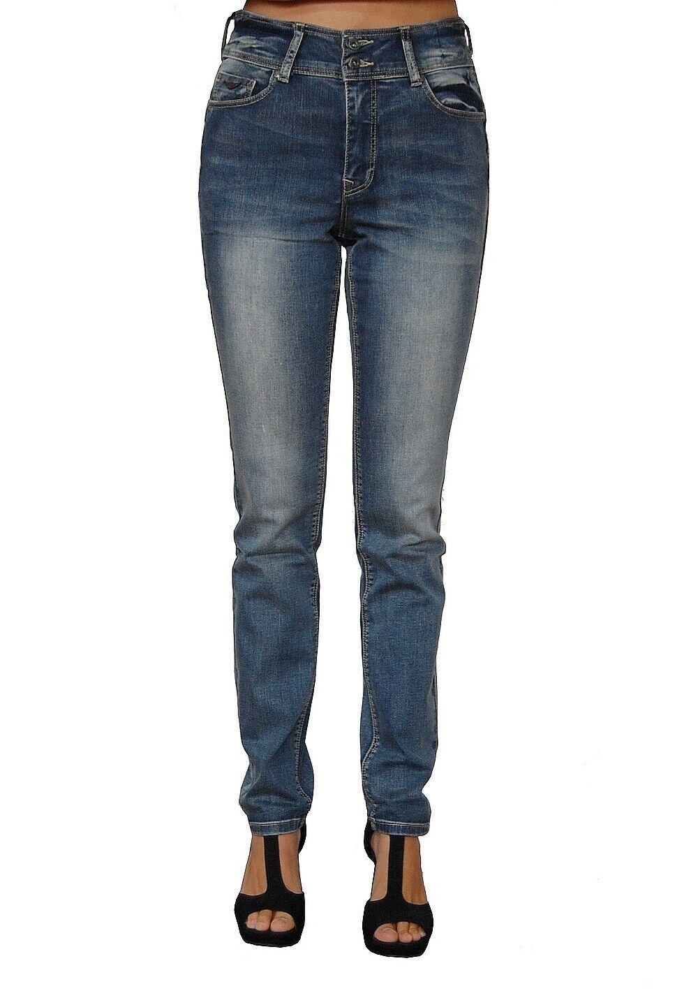 Arizona High Waist Push Up Jeans Stretch Slim Mid Blue Damen Hose 2.Wahl Gr.44
