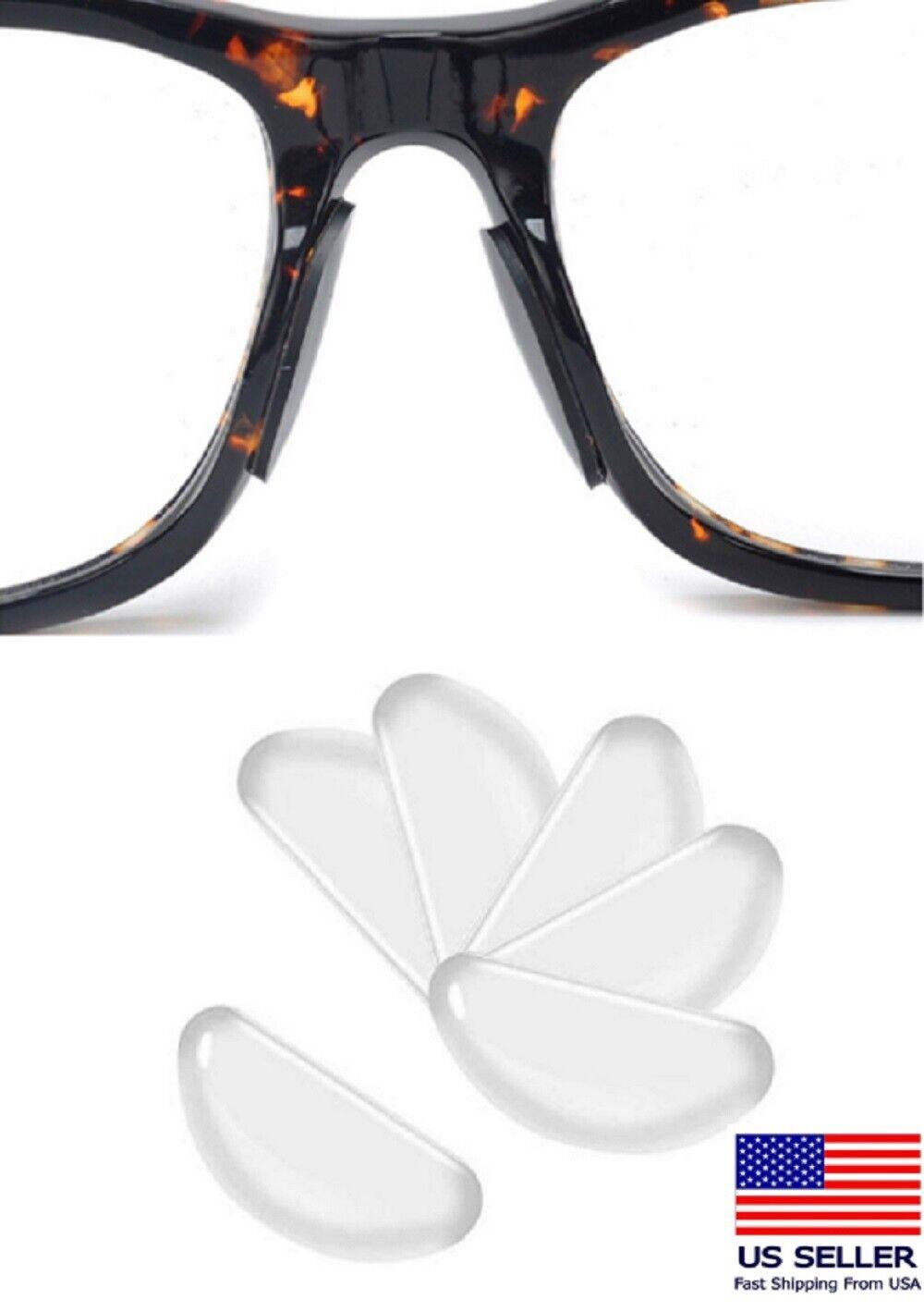 5 Pairs Anti-slip silicone Stick On Nose Pads For Eyeglasses Sunglasses Glasses Eyeglasses Parts