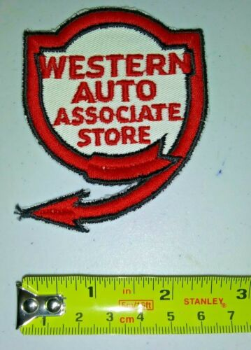VINTAGE Embroidered Automotive Gasoline Patch UNUSED - WESTERN AUTO ASSOC STORE