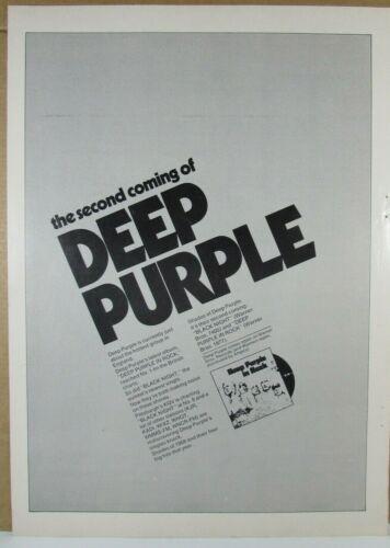 "Deep Purple - Original 1970 ""IN ROCK"" Promo Ad"