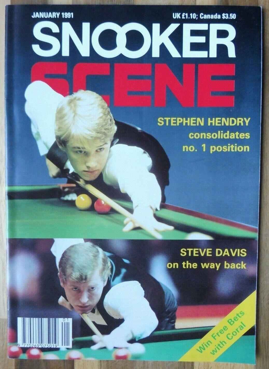 Snooker Scene Magazine, January 1991, Good Condition.