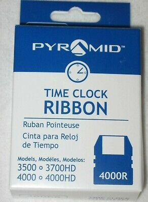 New Pyramid Time Clock Ribbon Cartridge 4000r Models 3500 3700 4000 4000hd