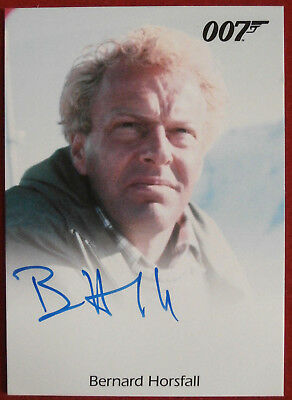 JAMES BOND - On Her Majesty's Secret Service - BERNARD HORSFALL, Autograph Card