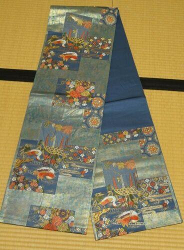Silk Fukuro Obi 422cm Long belt for kimono Women Japanese vintage sash /804