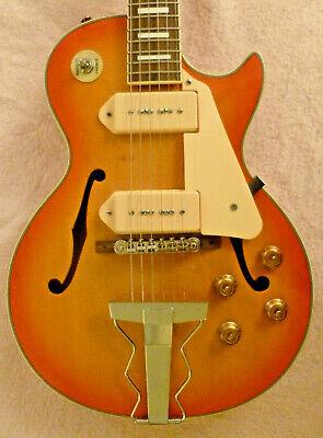 ES-LP Style Hollow Body Guitar - P-90's - Includes Gig Bag- NO RESERVE
